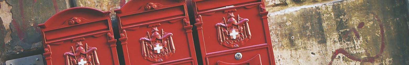 Post boxes on the wall